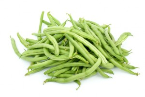 Pile of green french beans