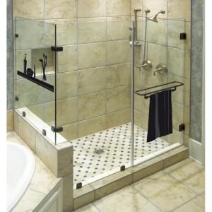 Stickers jusque sous la douche for Deco salle de bain douche