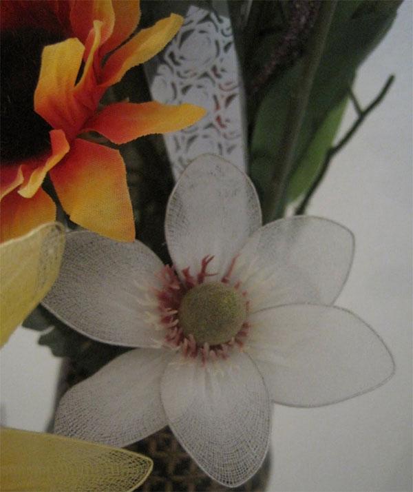 Une fleur avec des collants