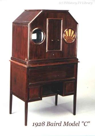 première télé: Baird Model C de 1928