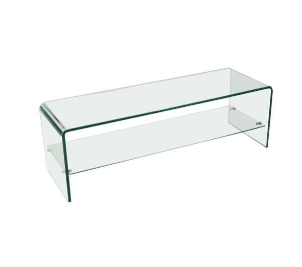 Meuble télé en verre transparent