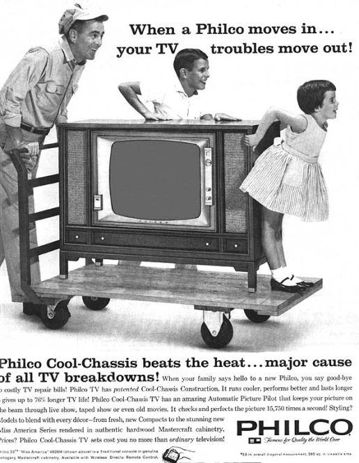 Ancienne télévision des années 1960