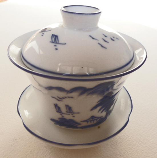 Zhong en porcelaine bleue