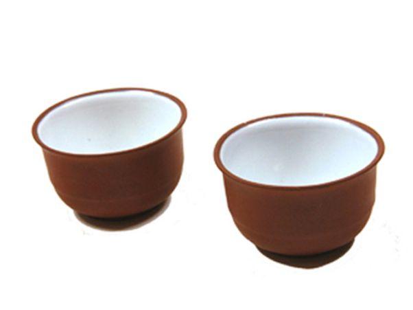 Coupes à thé en terre cuite